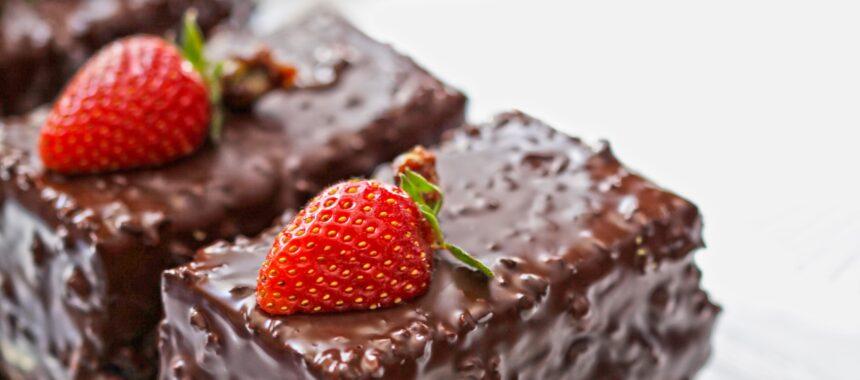 Mocno owocowy blok czekoladowy