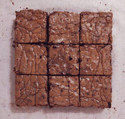 brownie z agrestem