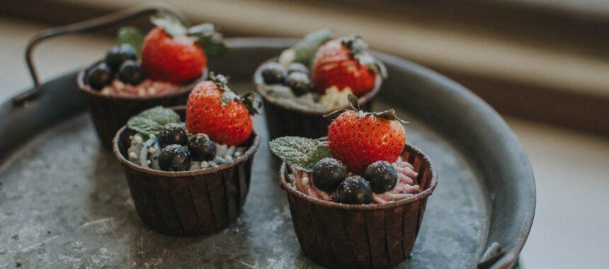 Babeczki czekoladowe z borówkami